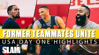 Kevin Durant, Russell Westbrook, & James Harden WORK IT at Team USA Camp | Day 1 SLAM Highlights