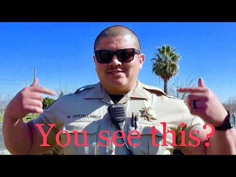 "Officer does the ""Shoulder Shrug"" C O P W A T C H with Central Valley Watch"