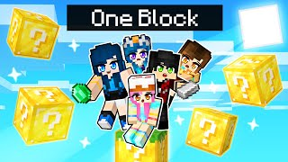 Minecraft But Were Stuck On ONE LUCKY BLOCK