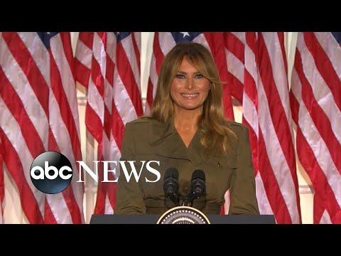 Melania Trump delivers speech at 2020 RNC