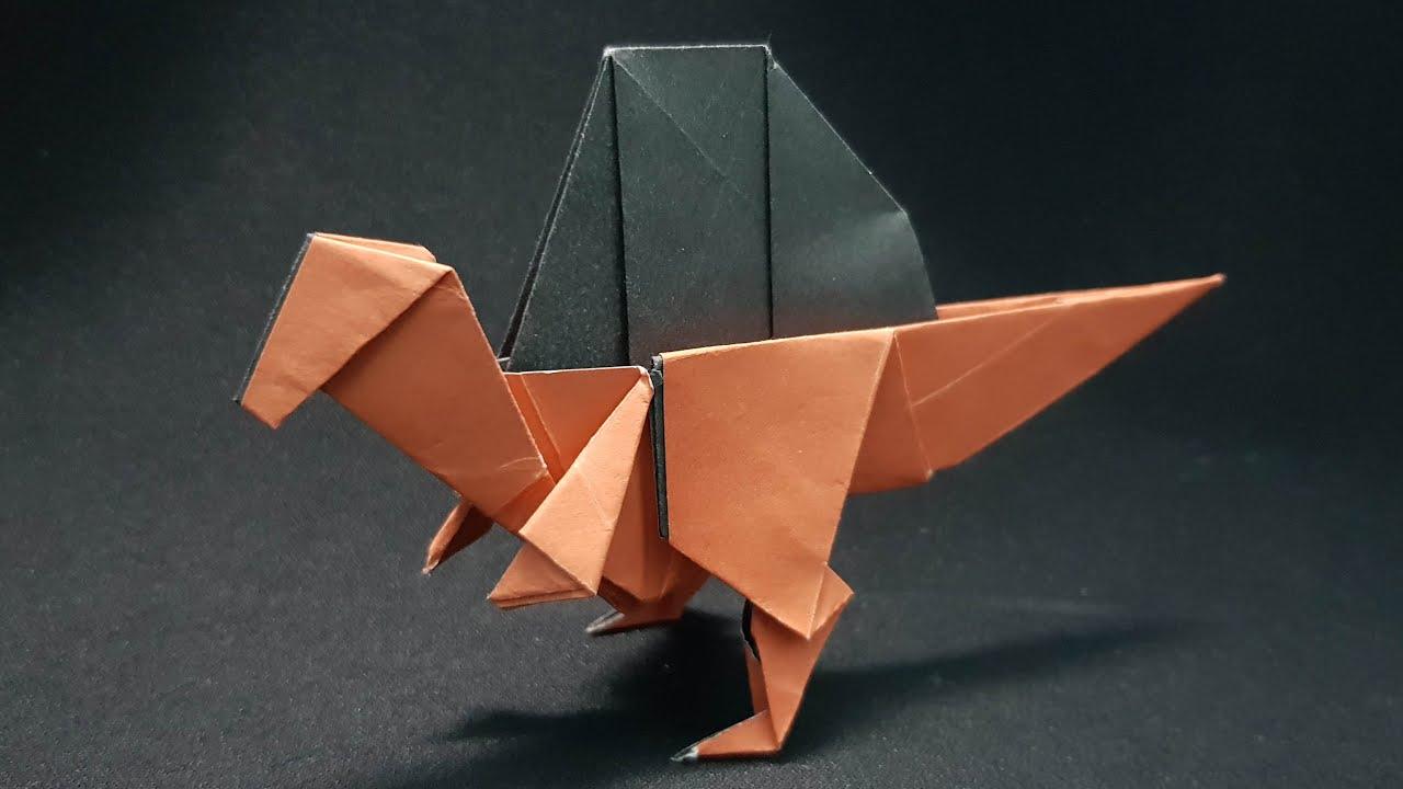 ORIGAMI - Gấp Khủng Long Spinosaurus    How To Make Paper Dinosaur Spinosaurus