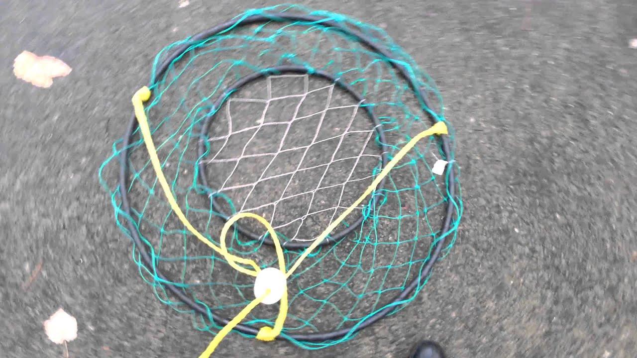 Prepare Ring Net Crab Trap for Salt Water Crabbing