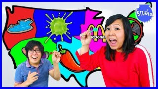 Download THROWING A DART AT A MAP AND DOING WHATEVER IT LANDS ON CHALLENGE! MOMMY VS. DADDY! Mp3 and Videos