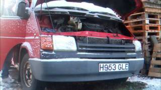 1990 Mk3 Ford Transit LWB cold start -2 Degrees