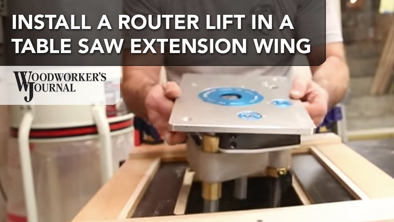 How to add a router lift to your table saw extension wing youtube how to add a router lift to your table saw extension wing greentooth Choice Image
