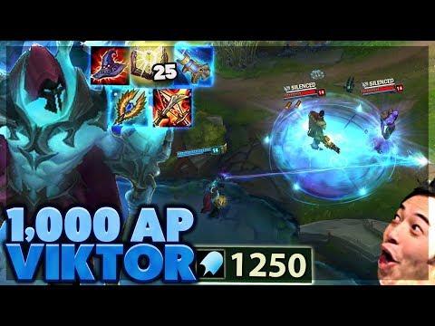 DEATH SWORN VIKTOR SKIN! | I BREAK EVERYTHING | 1000 AP VIKTOR - BunnyFuFuu