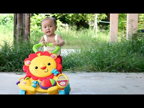 Unboxing Mainan Anak Bayi Lucu Belajar Jalan - Musical Lion Walker By Fisher Price - Baby Toy Review