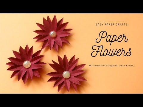 DIY Paper Flowers for Scrapbook and Card Decoration | Paper Crafts Easy