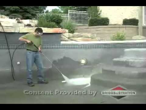 Cleaning pools and spas with a briggs and stratton for Pressure clean pools