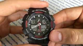 Как настроить часы Casio G-SHOCK GA-100-1A4ER - инструкция от Presidentwatches.Ru