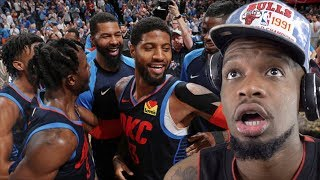 IN PAUL GEORGE WE TRUST!!! THUNDER vs ROCKETS HIGHLIGHTS