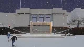 Архитектурные решения временного павильона питания и проката на Патриарших Прудах, Москва.