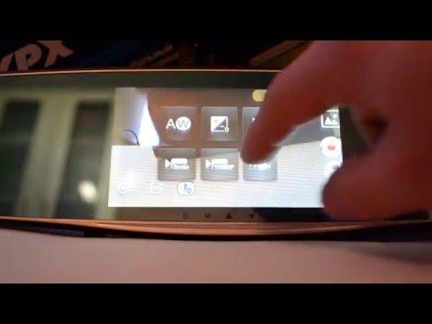 Видео работы XPX ZX827 зеркало с видеорегистратором, камерой заднего вида, GPS