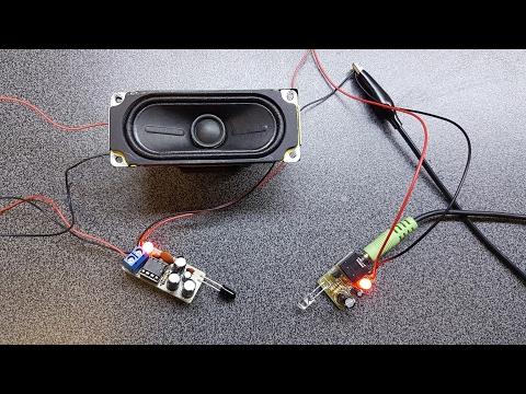 Infrared IR audio transmitter electronics kit build / tutorial.