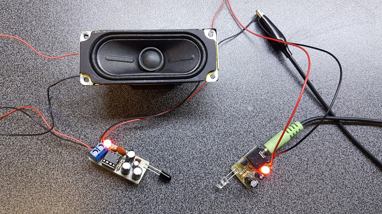 infrared ir audio transmitter electronics kit build tutorial  [ 1280 x 720 Pixel ]