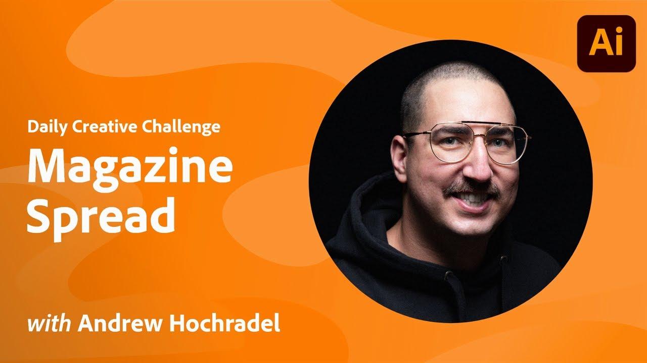 Creative Encore: Illustrator Daily Creative Challenge - Magazine Spread