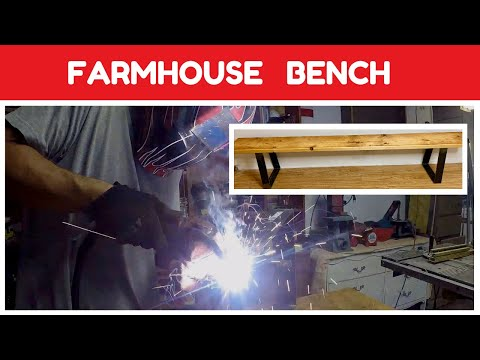 DIY Metal and Wood Bench - Modern Farmhouse Bench Build