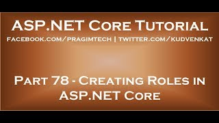 Creating roles in asp net core