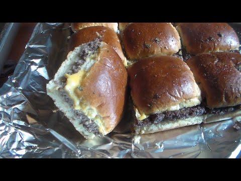 Easy Oven Hamburgers (Mini Square Hamburgers)