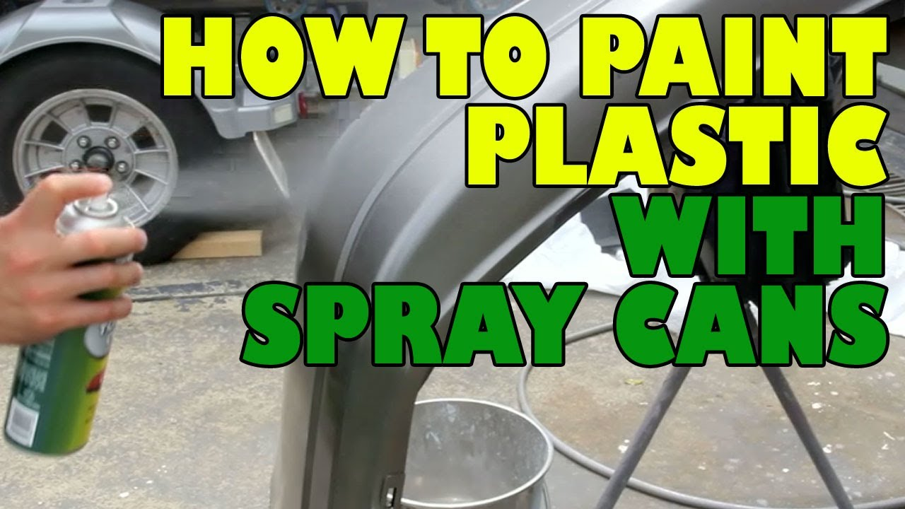 How to paint plastic with spray cans. - YouTube
