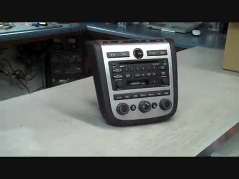 Nissan Murano Bose Car Stereo Repair 2003  2007 Coins in radio no audio burning  YouTube