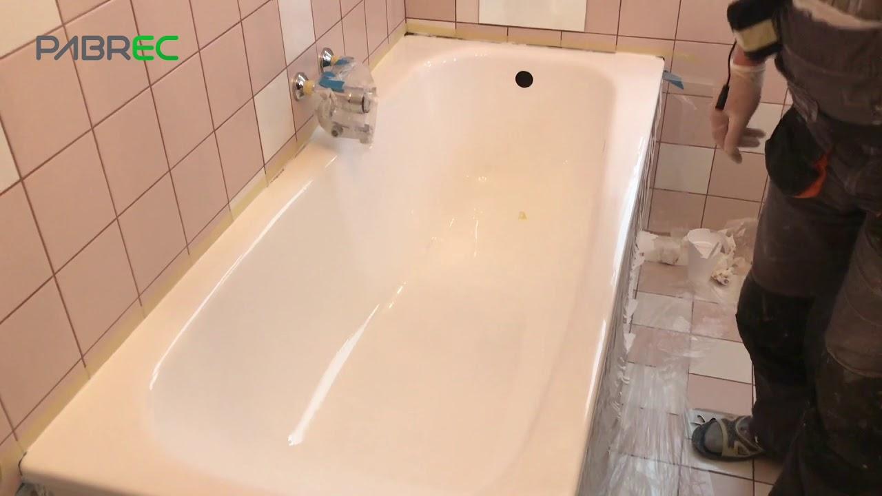 Badewannenrenovierung und Badewannenbeschichtung - YouTube