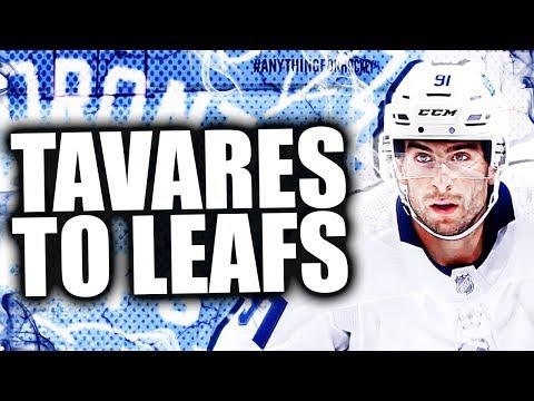 JOHN TAVARES IS A TORONTO MAPLE LEAF / DENIES SAN JOSE SHARKS (Toronto Maple Leafs Sign Tavares)