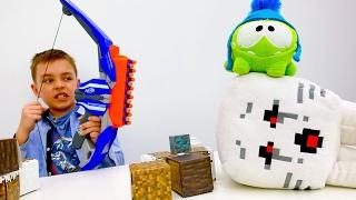 Секреты игры Майнкрафт - Ам Ням в видео с игрушками Minecraft!