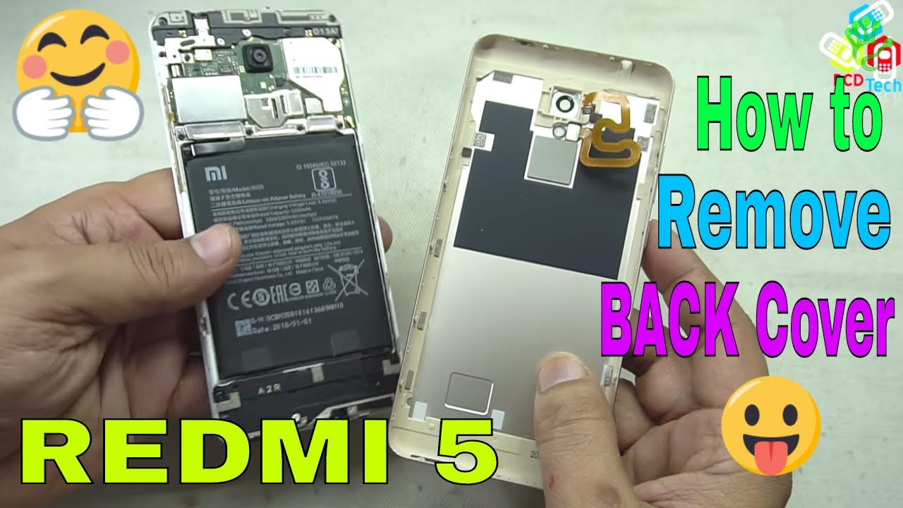 a962826a564 📲❗🔦Xiaomi Redmi 5 How to Open Back cover   Disconnect Battery ...