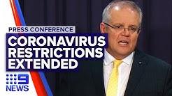 Coronavirus: National cabinet agrees to extend restrictions | Nine News Australia