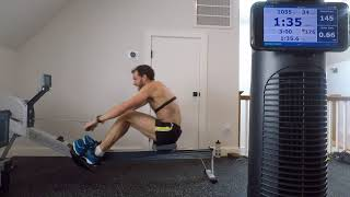 Ed Baker - 2000m time trial on the erg (Concept2 indoor rowing machine)