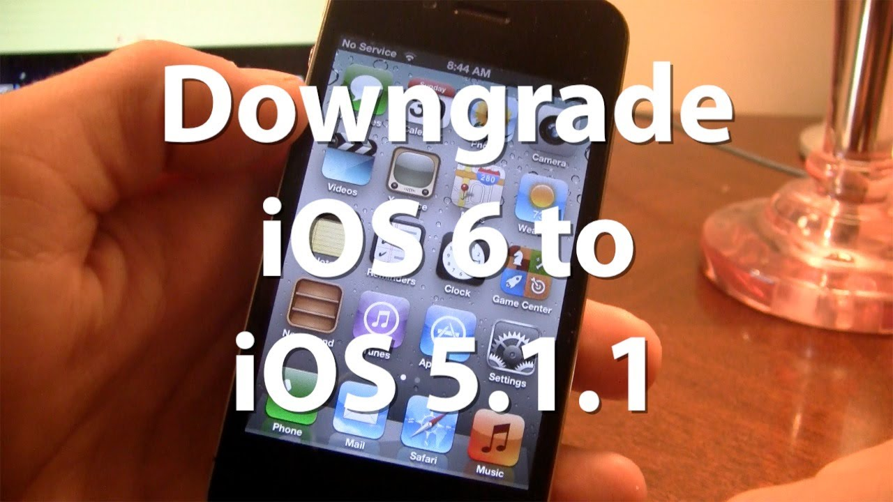 downgrade ios 6 to ios 5 1 1 on iphone 4 3gs ipod touch 4g tutorial