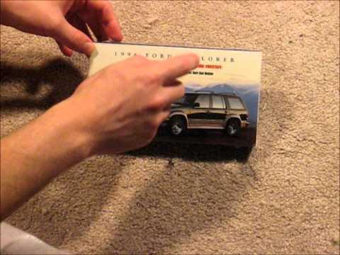 1996 Ford Explorer Owner's Manual VHS Unboxing