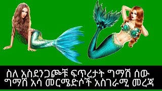 Ethiopia | ግማሽ ሰው ግማሽ አሳ አስደንጋጭ ፍጥረታት መርሜድሶች አስገራሚ መረጃ | mermaid