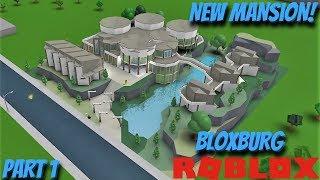 Mansión Arkfinity Mega Modern Riverside (Construcción de velocidad) (Parte 1) Roblox: Bienvenido a Bloxburg