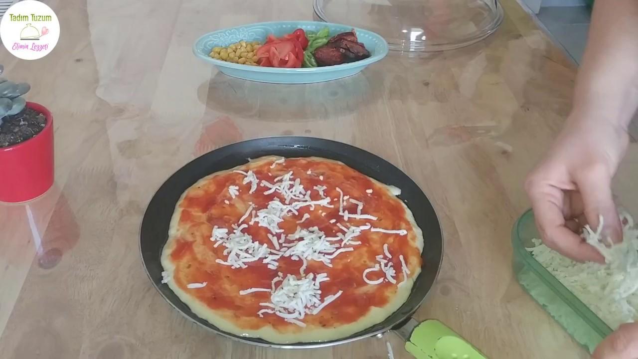 Tavada Pizza Mayalama Yokfirin Yok çok Kolay Ve Leziz 2 Kişilik