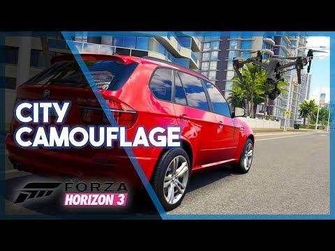 Forza Horizon 3 | City Camouflage! (Seeking w/ Drones)