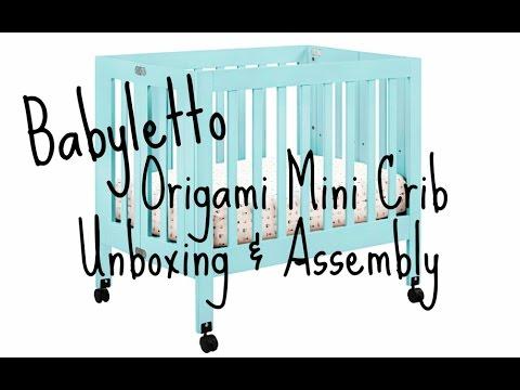 Babyletto - Origami Mini Crib - Washed Natural   West Coast Kids   360x480