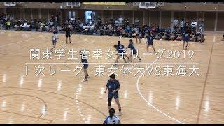 ハンドボール関東学生女子リーグ首位攻防戦 東女体大vs東海大
