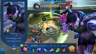 THIS IS HOW TΟ PLAY NATALIA AGAINST STRONG FIGHTERS | Natalia Gameplay Mobile Legends