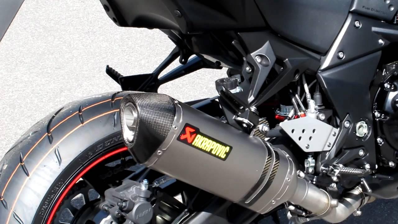 Kawasaki Z750R Special Edition Black Matt 2012 With Akrapovic Street Legal