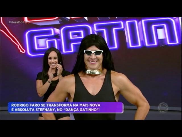 Stefhany se surpreende ao ver performance de Rodrigo Faro no Dança Gatinho