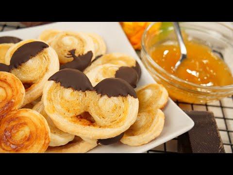 Schnelle Schweineöhrchen - Blitz-Rezept | Zartes Blätterteig-Gebäck mit Aprikose & Schokolade