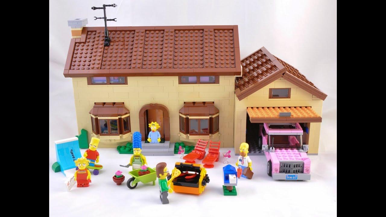 Lego casa de los simpsons lego juguetes para ni os youtube for Casa de juguete para jardin