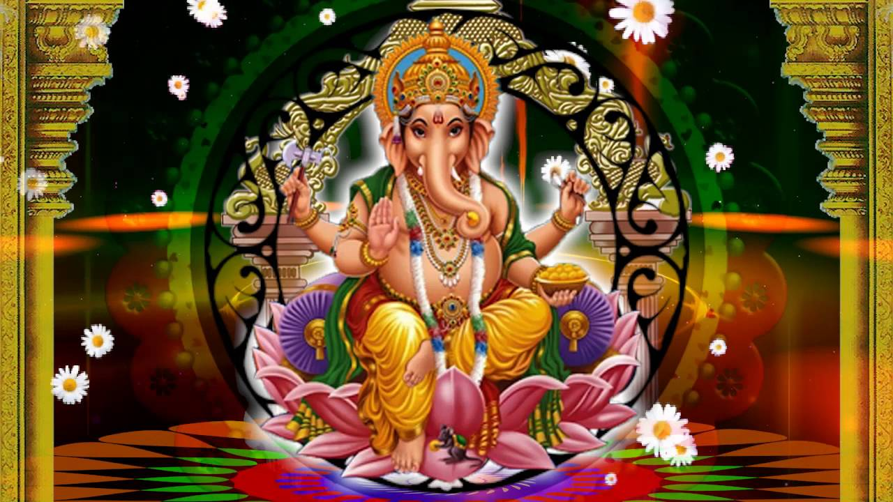Hd Lord Ganesh Background Animated Video Youtube