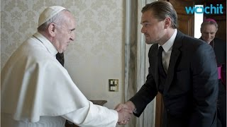 DiCaprio Speaks Italian in Meet With Pope Francis
