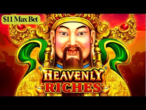 ★$11 MAX BET★ Heavenly Riches Slot Machine Bonus Won ! Live Slot Play |  GREAT SESSION