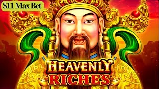★$11 MAX BET★ Heavenly Riches Slot Machine Bonus Won ! Live Slot Play |  GREAT SESSION