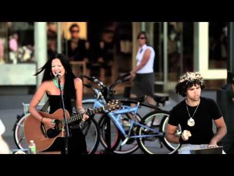 """Amy May Performing """"Real""""  @ Santa Monica Third Street Promenade"""