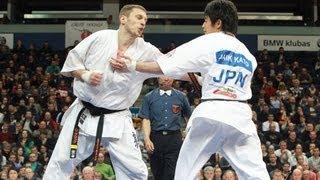 第5回カラテワールドカップ 男子中量級 決勝 オレスト・プロックvs加藤...